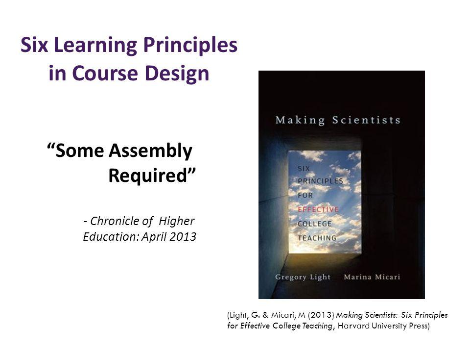 Six Learning Principles