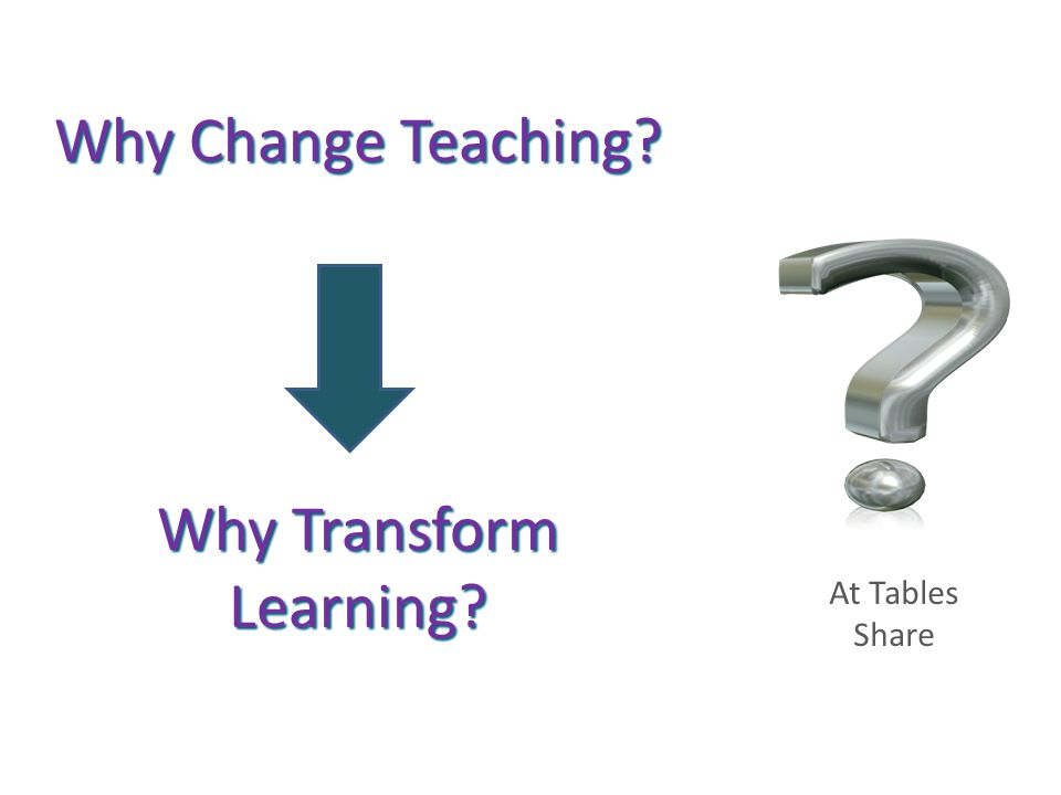 Why Transform Learning