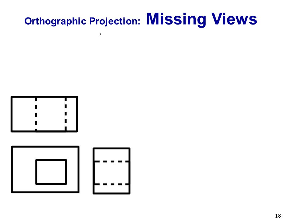 Orthographic Projection: Missing Views Two Solutions