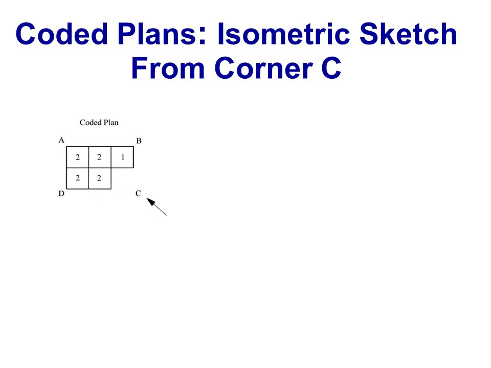 Coded Plans: Isometric Sketch