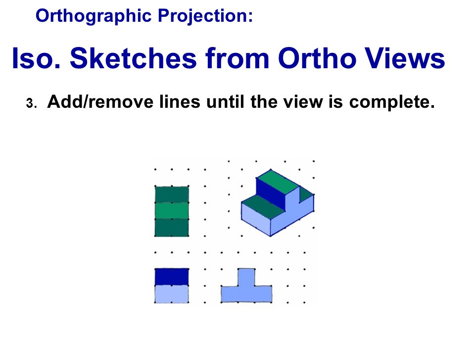 Iso. Sketches from Ortho Views