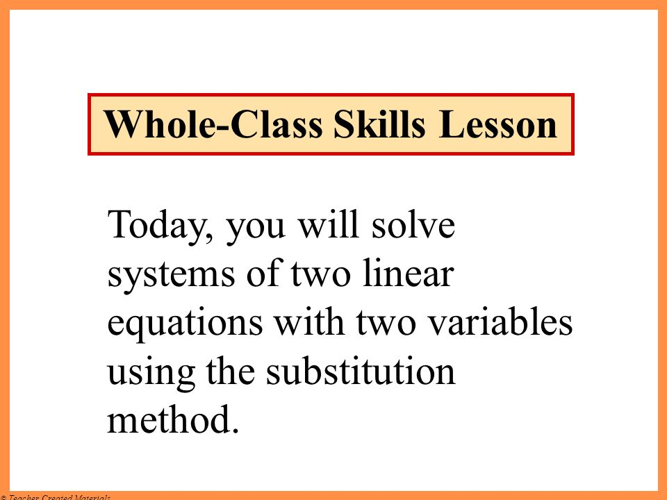 Whole-Class Skills Lesson