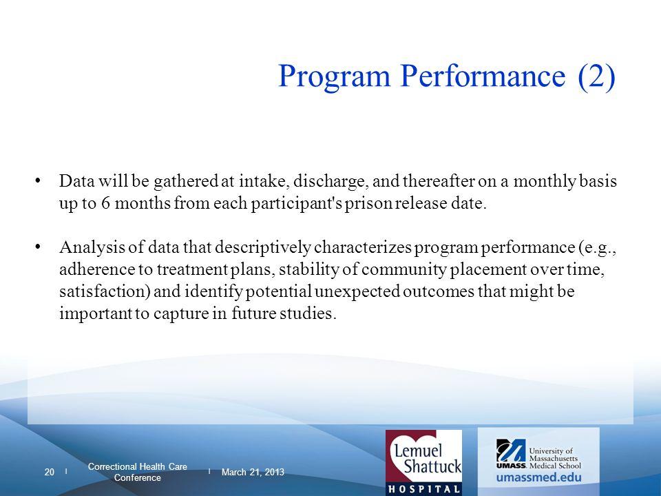 Program Performance (2)