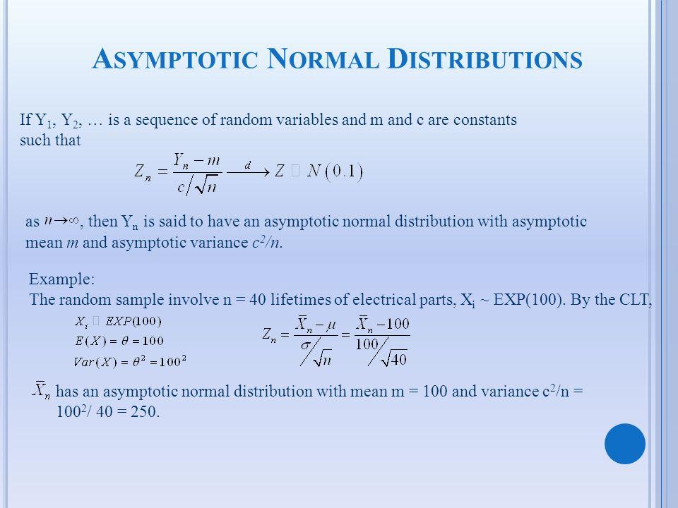 Asymptotic Normal Distributions