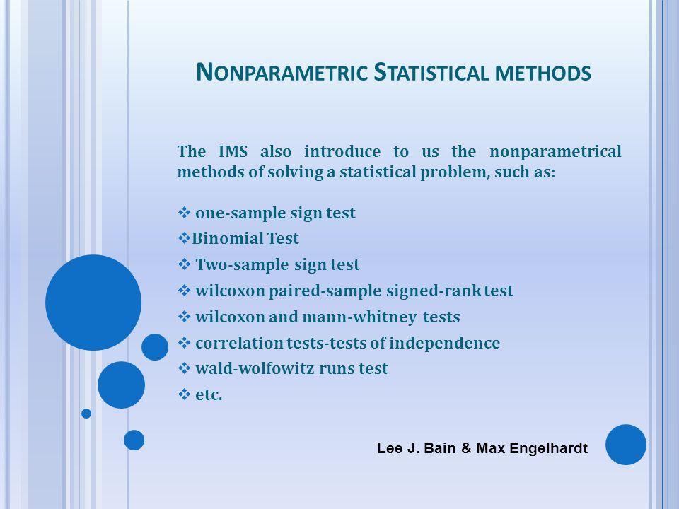 Nonparametric Statistical methods