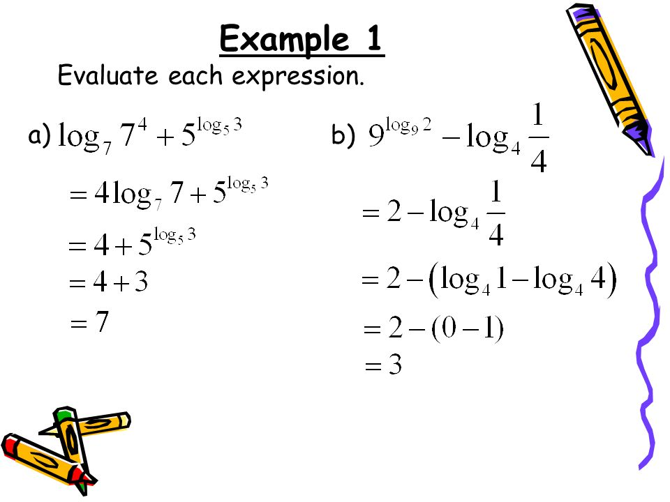 Example 1 Evaluate each expression. a) b)