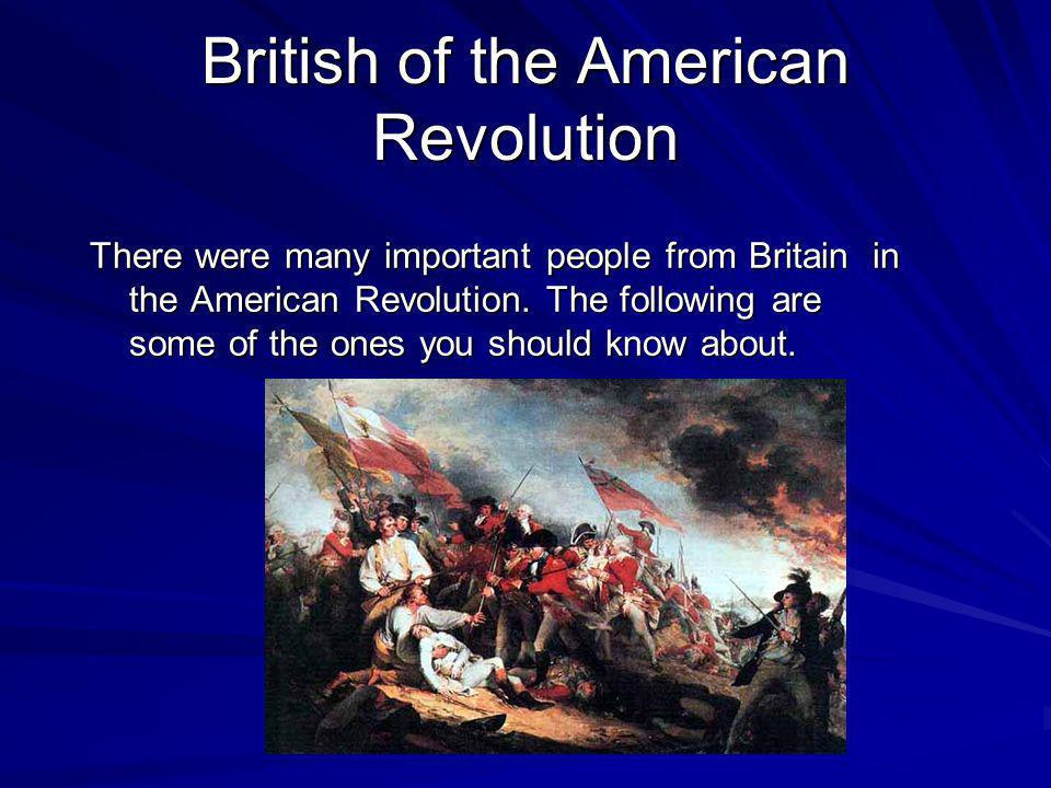 British of the American Revolution
