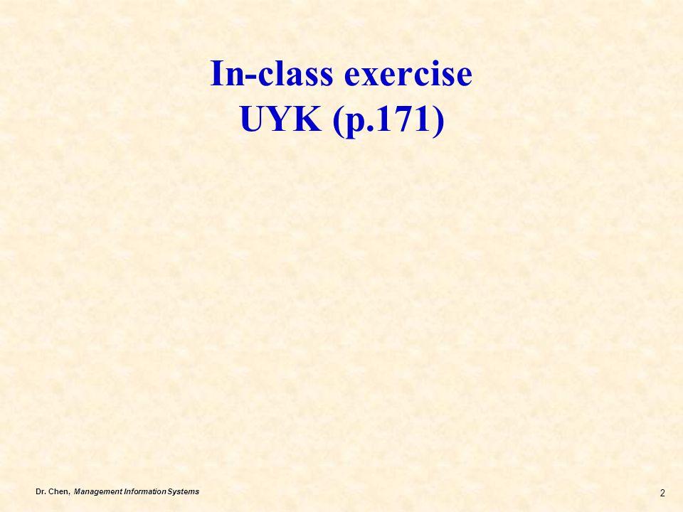 In-class exercise UYK (p.171)