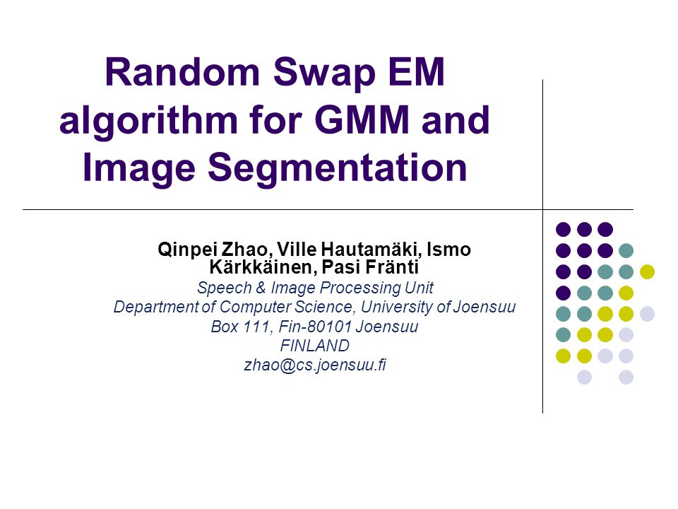 Random Swap EM algorithm for GMM and Image Segmentation