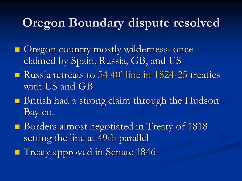 Oregon Boundary dispute resolved