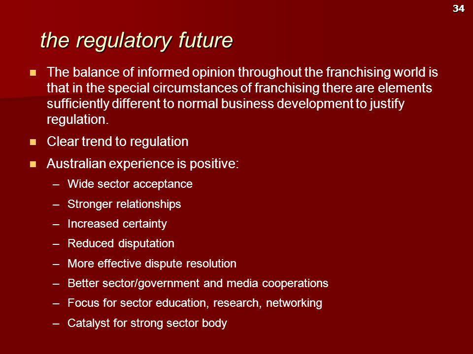 the regulatory future