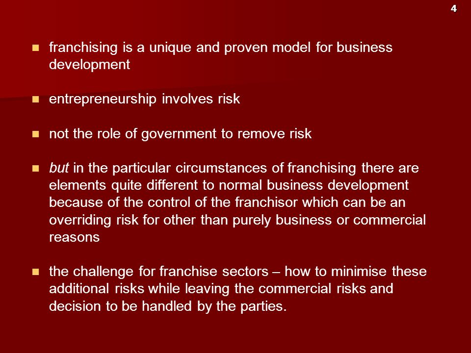 franchising is a unique and proven model for business development