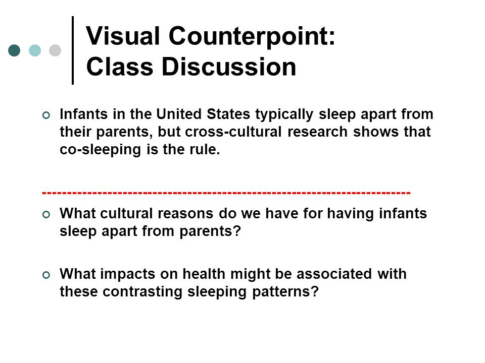 Visual Counterpoint: Class Discussion