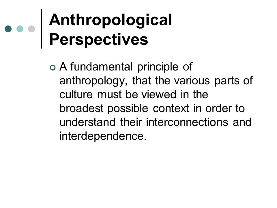 Anthropological Perspectives