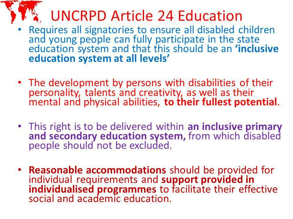 UNCRPD Article 24 Education