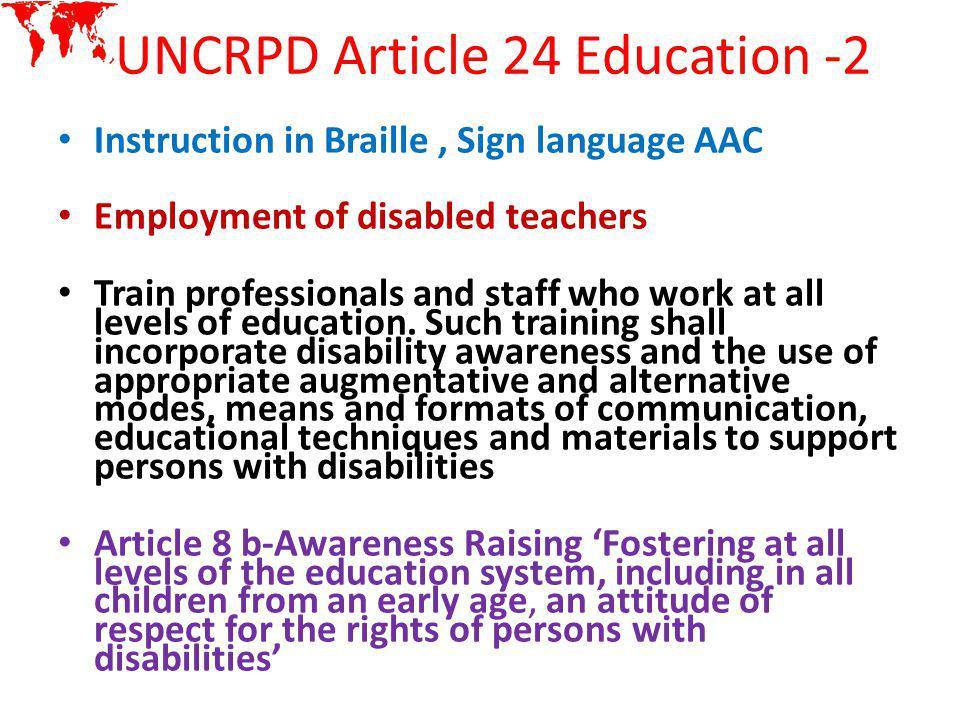 UNCRPD Article 24 Education -2