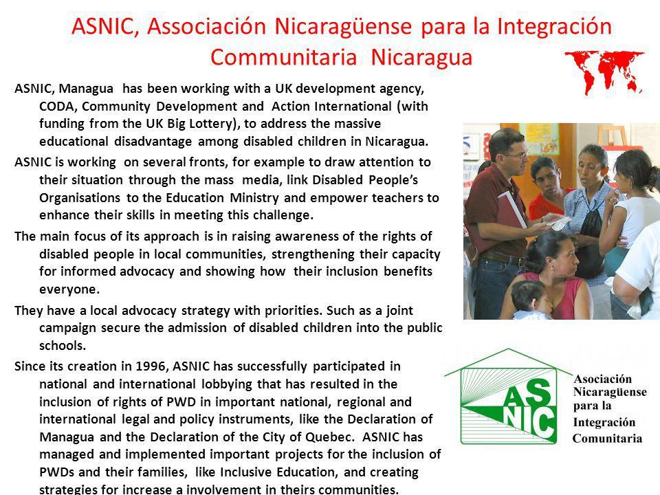 ASNIC, Associación Nicaragüense para la Integración Communitaria Nicaragua