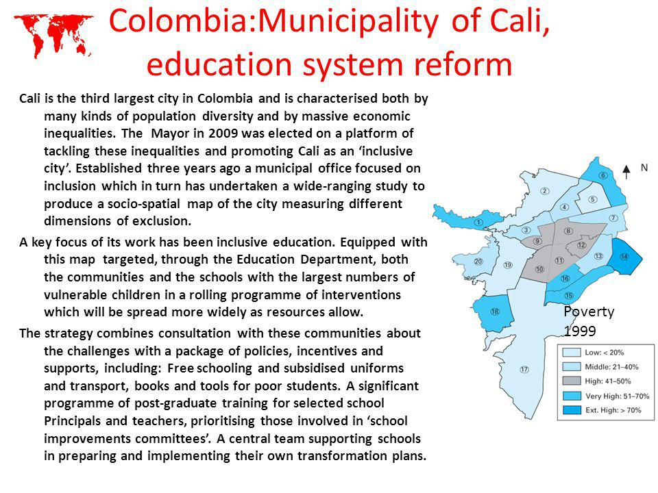 Colombia:Municipality of Cali, education system reform