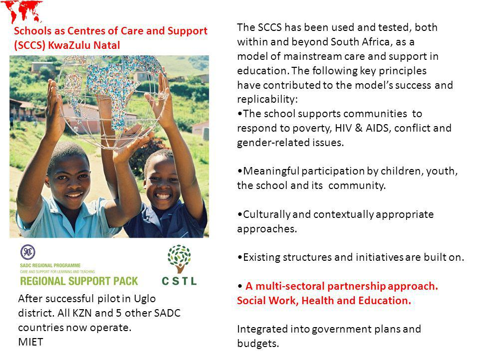 The SCCS has been used and tested, both within and beyond South Africa, as a