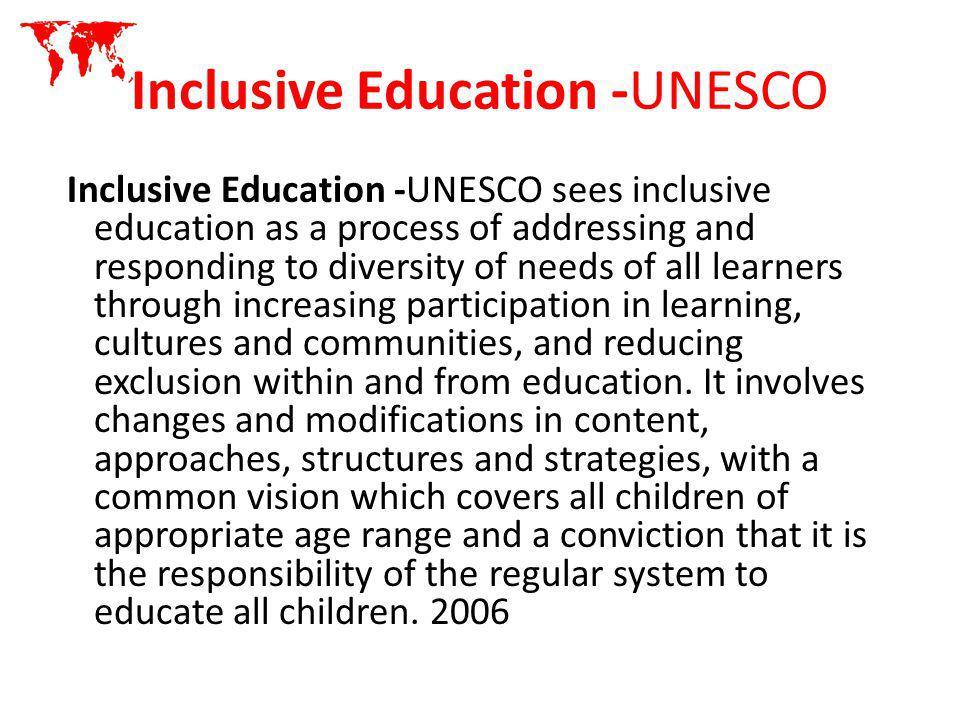 Inclusive Education -UNESCO