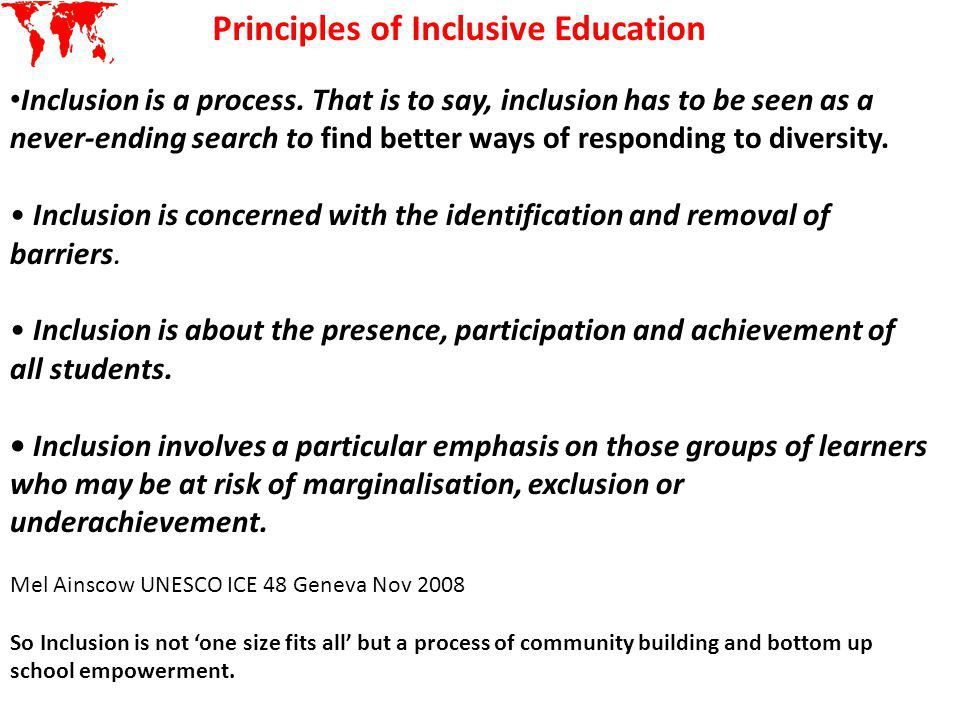 Principles of Inclusive Education