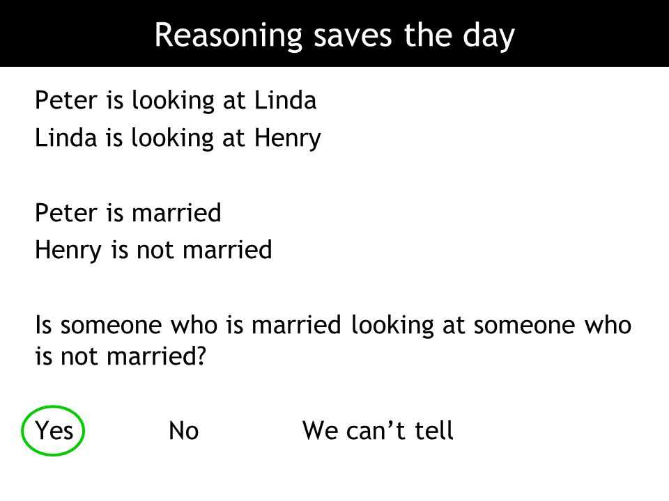 Reasoning saves the day