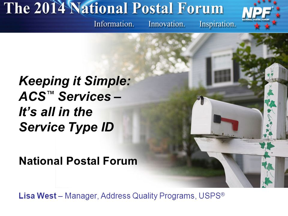 Keeping it Simple: ACS™ Services – It's all in the Service Type ID