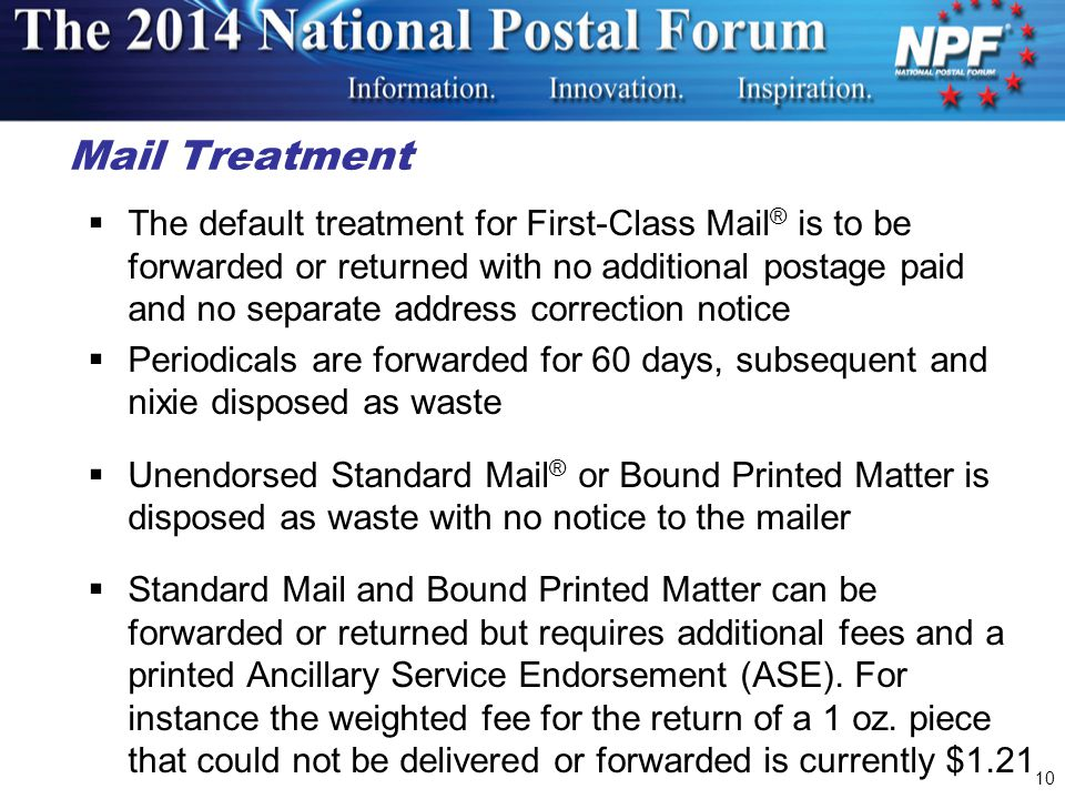 Mail Treatment