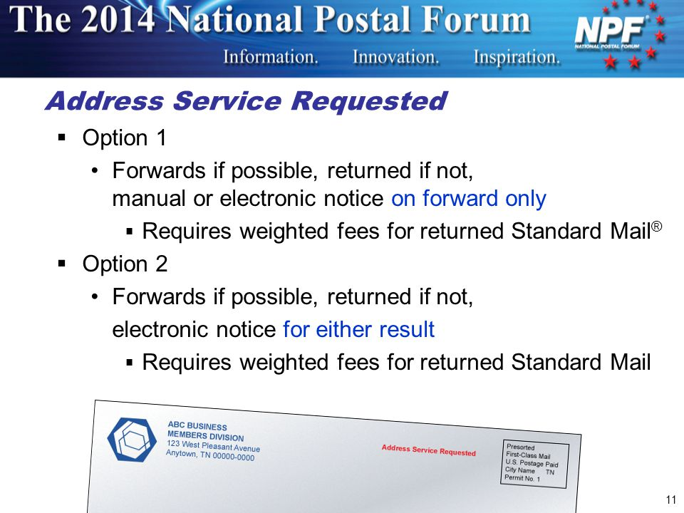 Address Service Requested
