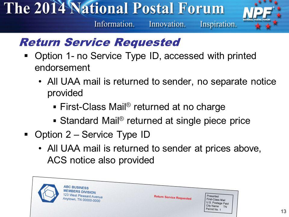 Return Service Requested