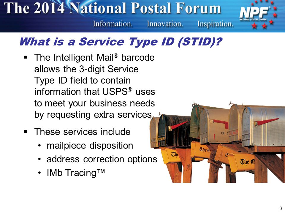 What is a Service Type ID (STID)