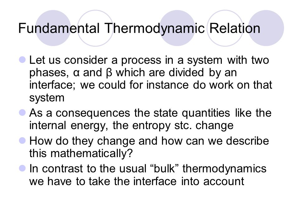 Fundamental Thermodynamic Relation