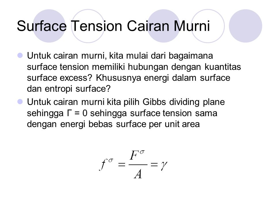 Surface Tension Cairan Murni