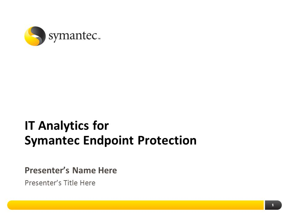 IT Analytics for Symantec Endpoint Protection