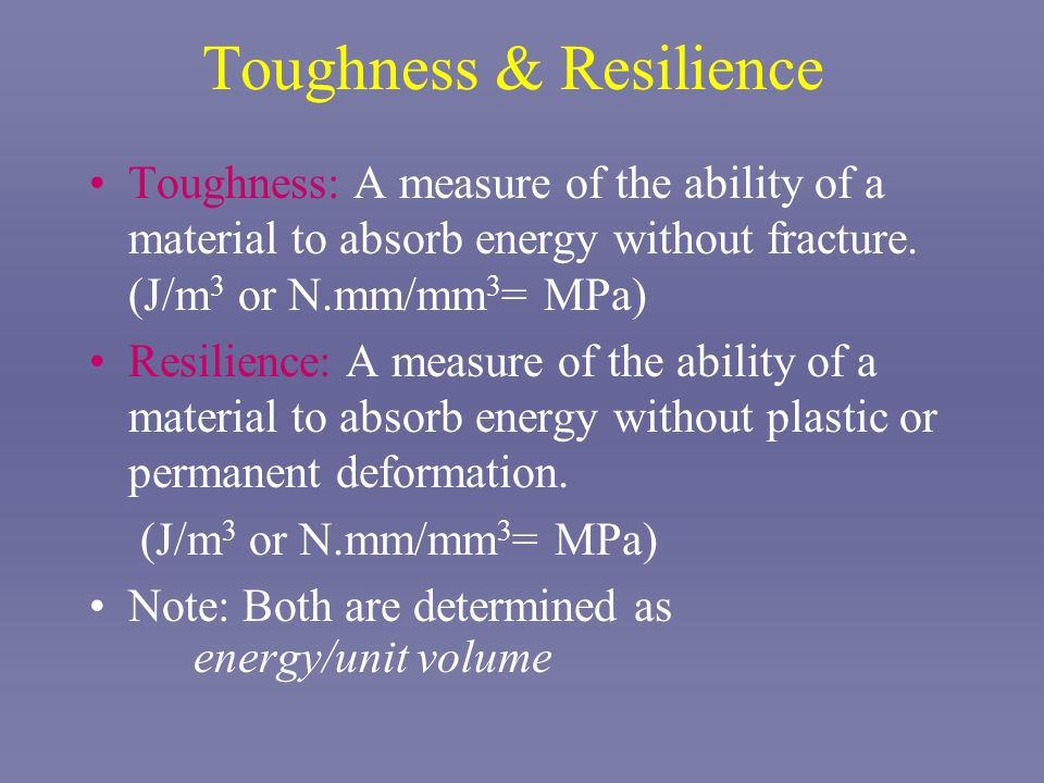 Toughness & Resilience