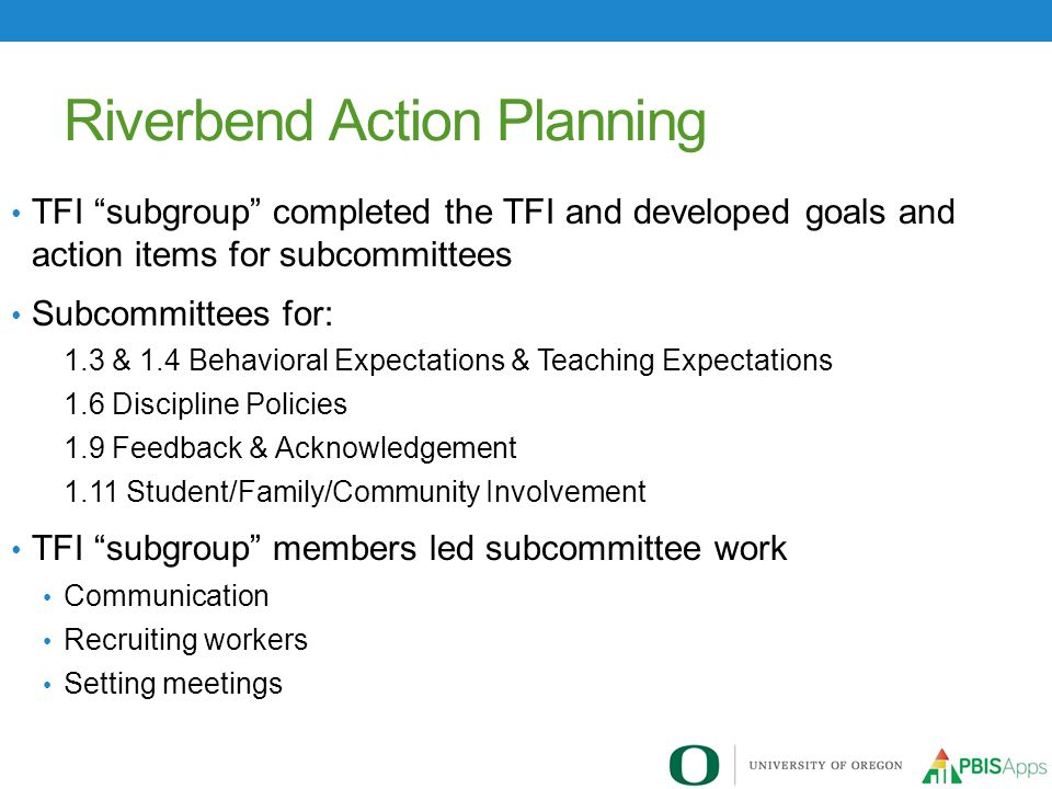Riverbend Action Planning