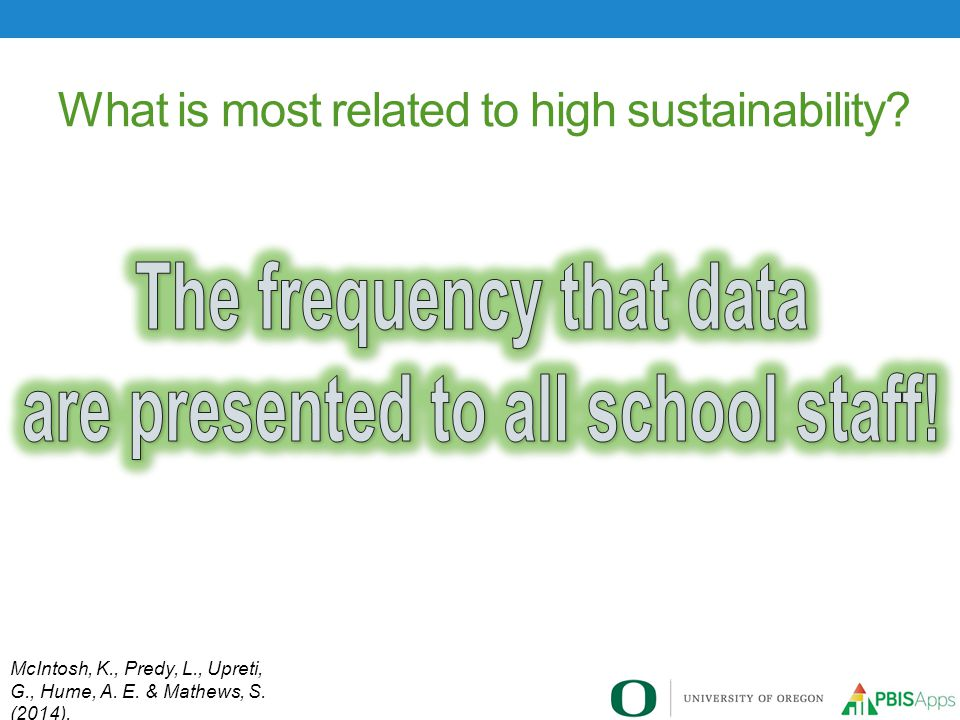 What is most related to high sustainability