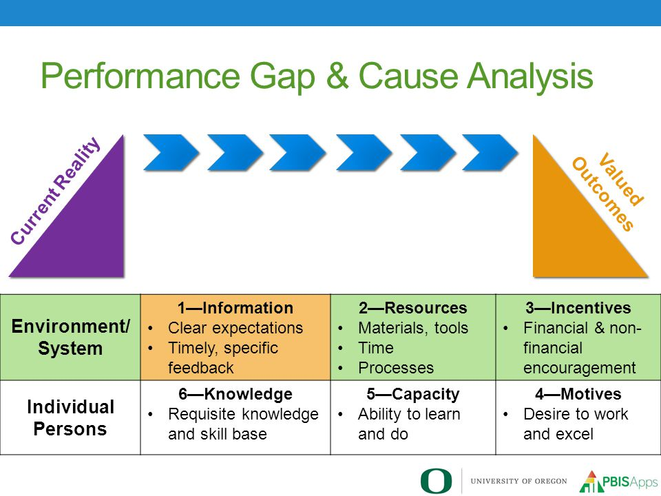Performance Gap & Cause Analysis