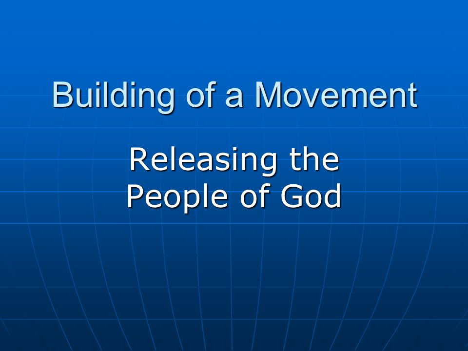 Releasing the People of God