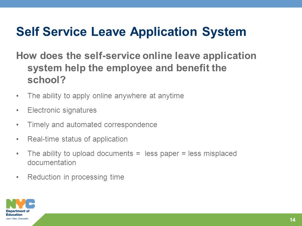 Self Service Leave Application System