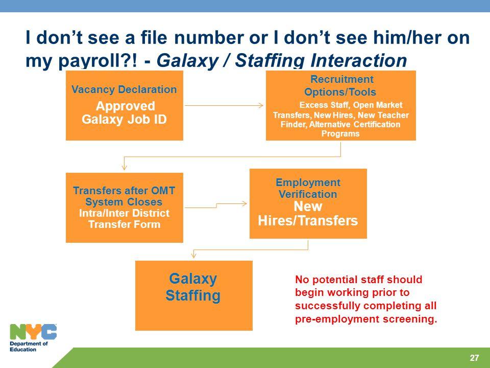 I don't see a file number or I don't see him/her on my payroll