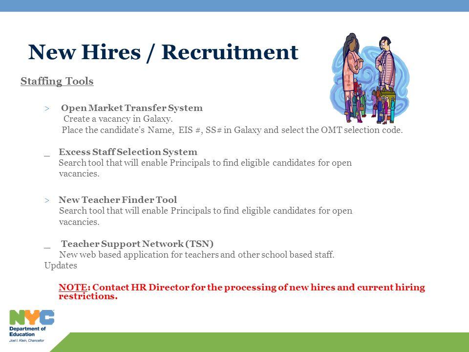 New Hires / Recruitment