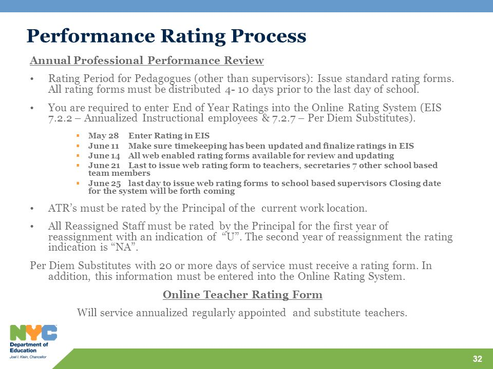 Performance Rating Process