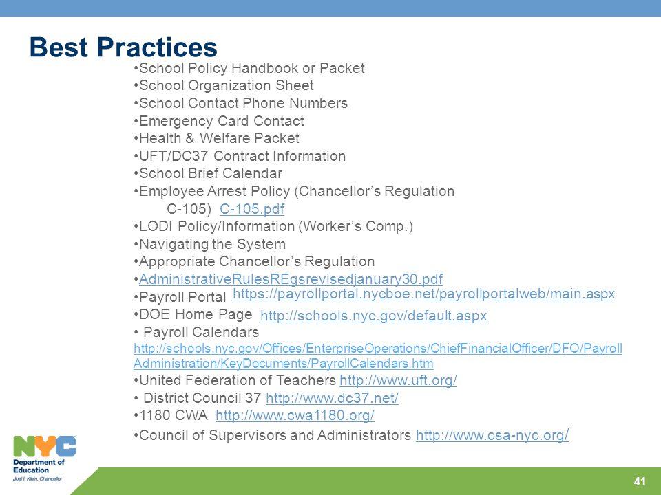 Best Practices School Policy Handbook or Packet