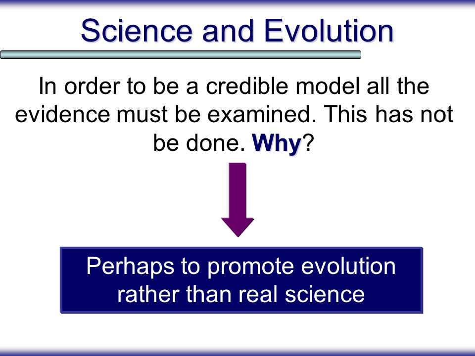 Perhaps to promote evolution rather than real science