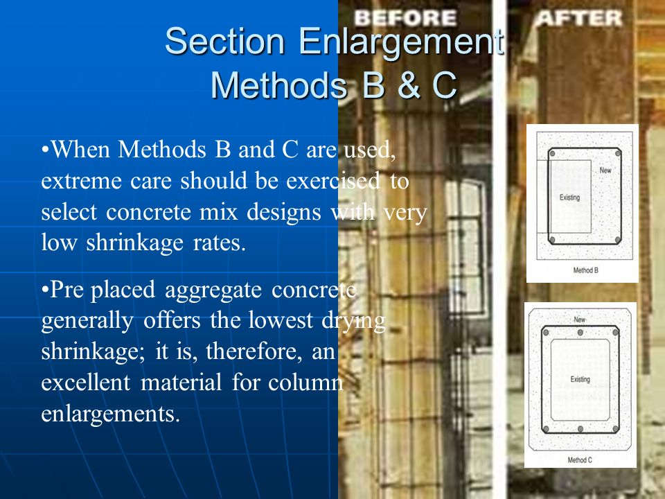 Section Enlargement Methods B & C