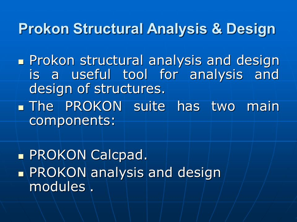 Prokon Structural Analysis & Design