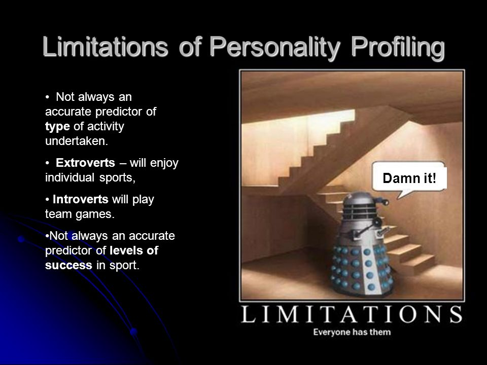 Limitations of Personality Profiling