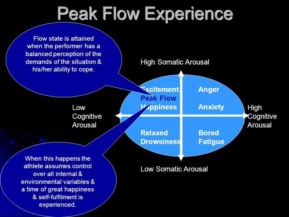 Peak Flow Experience High Somatic Arousal Excitement Anger Peak Flow