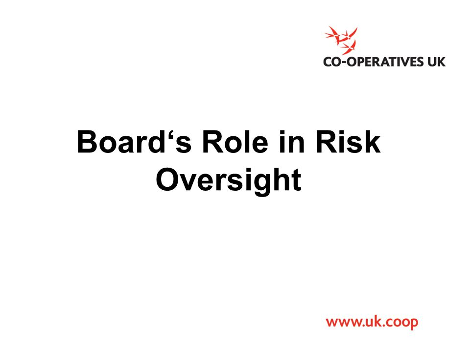 Board's Role in Risk Oversight